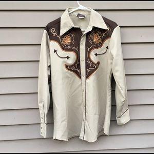 Vintage H bar C western shirt sz 15.5